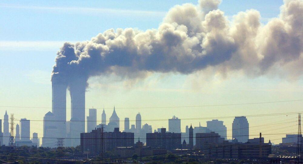 Caso de 9/11. Imagem das consequências do atentado
