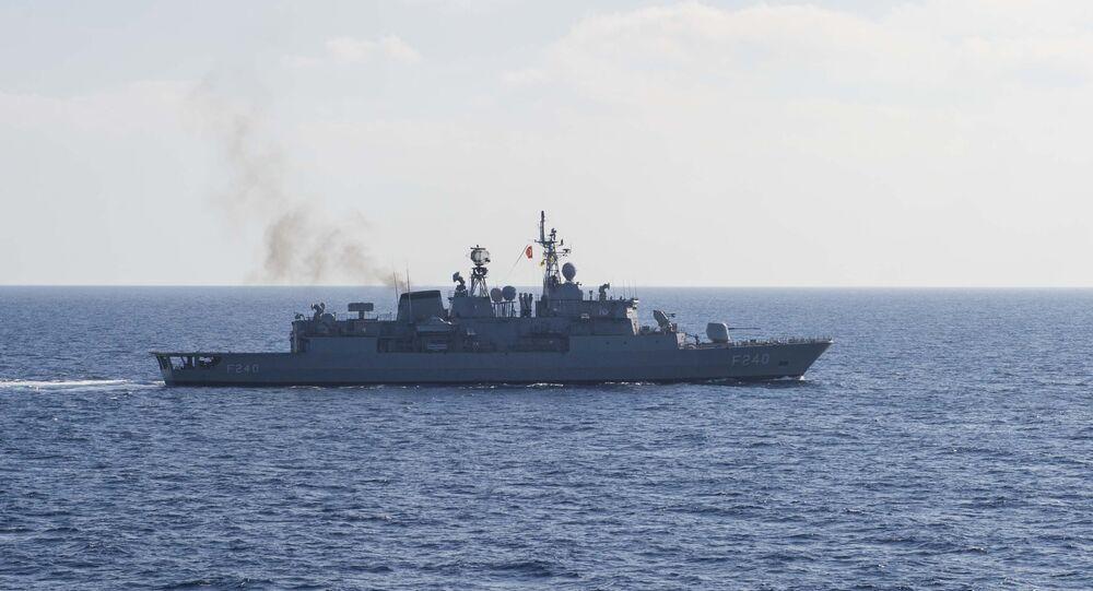 A fragata turca Yavuz (foto de arquivo)