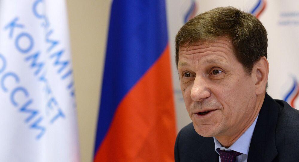 Alexander Zhukov, presidente do Comitê Olímpico Russo (ROC)