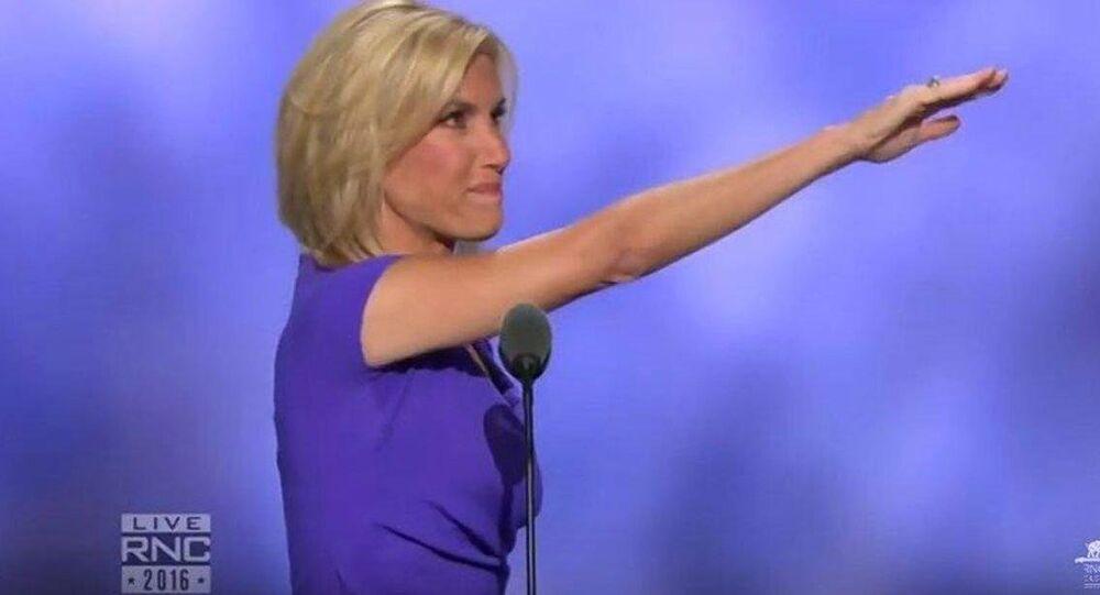 Laura Ingraham faz gesto esquisito ao terminar discurso em convenção nacional do Partido Republicano