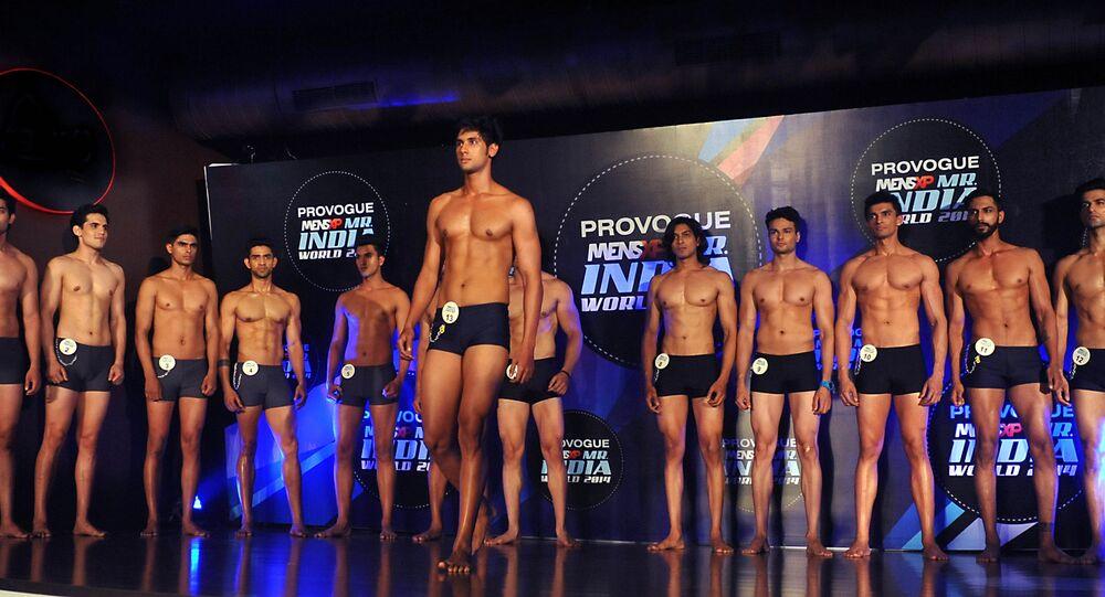 Concurso de beleza masculina na Índia em 2014