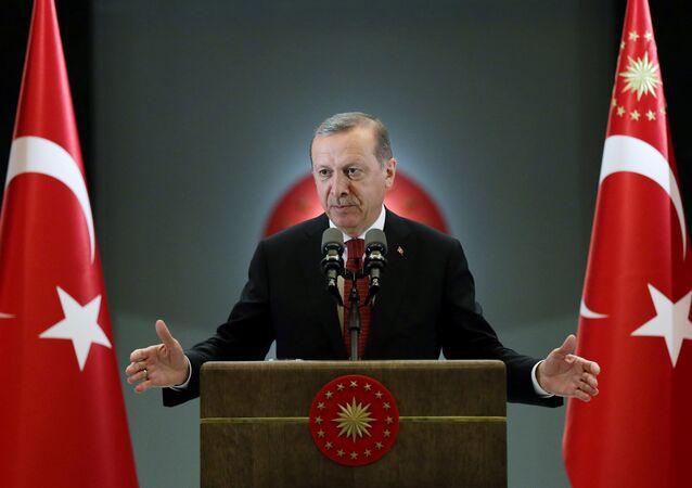 Presidente turco Reccep Tayyip Erdogan