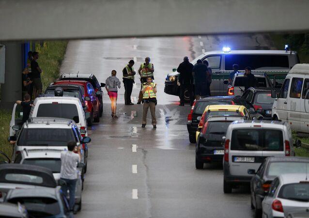 Polícia fecha o tráfego após atentado em Munique (arquivo)