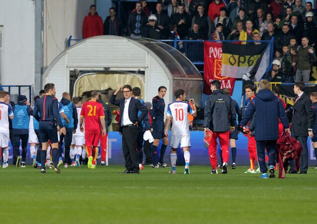 Euro 2016 Group G qualifier between Russia and Montenegro