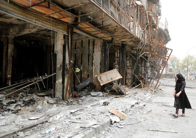 Ataque suicida em Bagdá, foto de arquivo