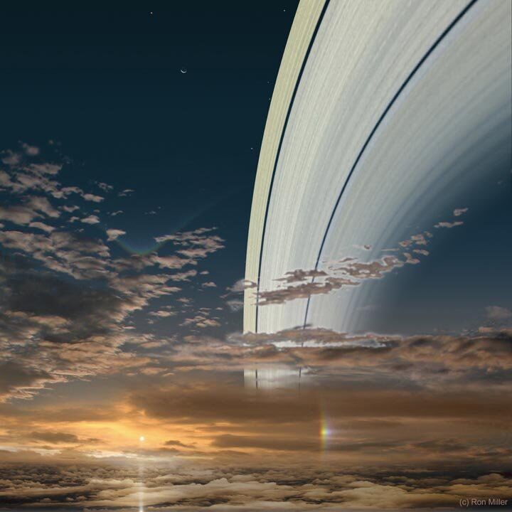 Isto é como pôr do sol poderia ser visto em Saturno.