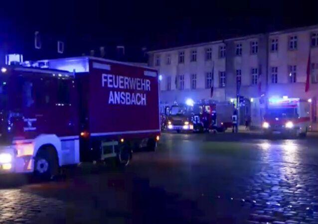 Ansbach, Baviera, após a explosão deste domingo