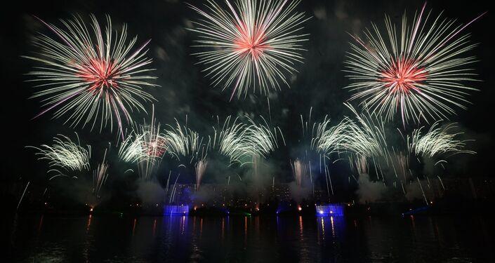 II Festival de Fogos de Artifício Rostec. Segundo dia do festival.