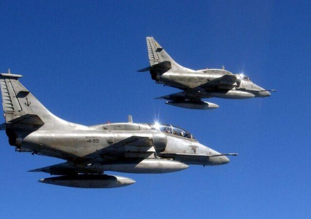 Caças modelo AF-1B da Marinha