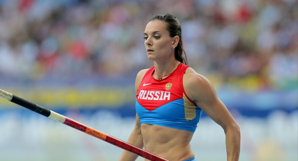 Two-time Olympic pole vault champion, Russia's Yelena Isinbaeva