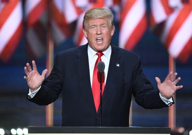 Presidente eleito norte-americano Donald Trump