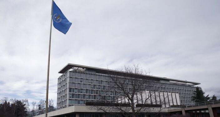 Sede da Organização Mundial da Saúde (OMS) em Genebra, Suíça, 1 de Fevereiro de 2016