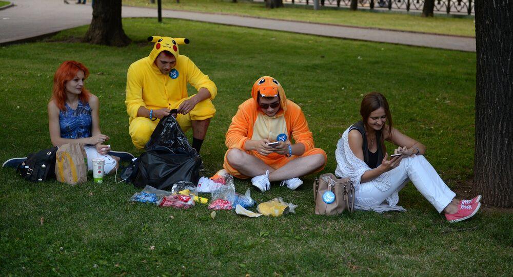 Jogadores de Pokémon Go em Moscou