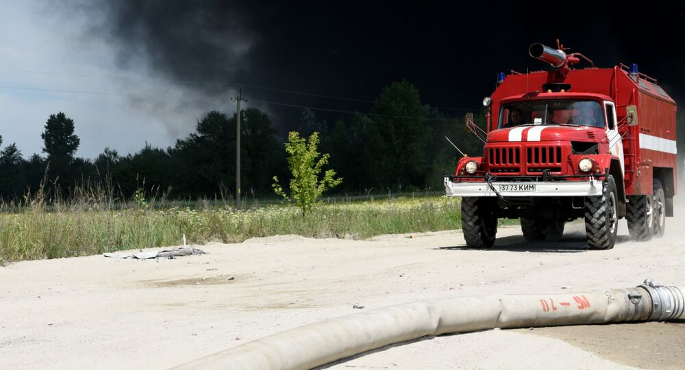 Carro de bombeiros ucranianos