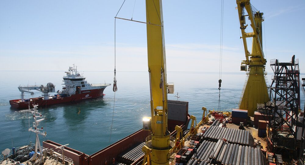 Construção de gasoduto em Sochi (foto de arquivo)