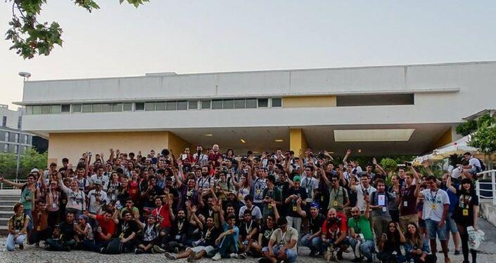 Foto dos participantes em grupo