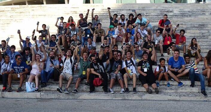 Participantes da Caminhada Pokémon Go Lisboa