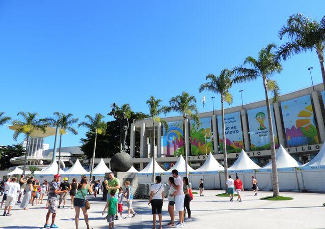 Maracanã, o estádio de futebol localizado no Rio de Janeiro e inaugurado em 1950