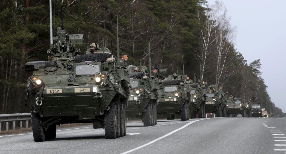 """Marcha de dragões"" do OTAN na Europa"
