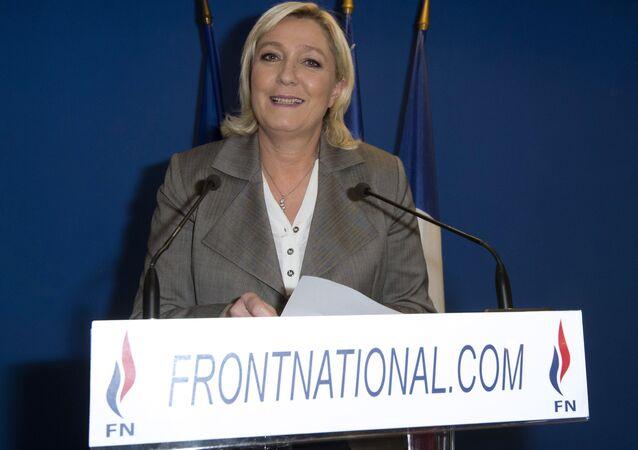 Marine Le Pen, líder da Frente Nacional