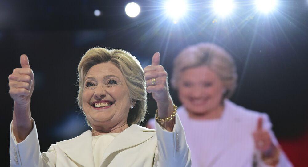 Hillary Clinton, candidata democrata à presidência dos EUA