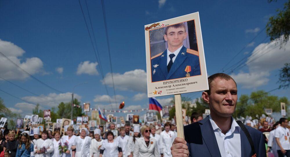 O militar russo Aleksandr Prokhorenko, morto durante a operação de liberação da cidade síria de Palmira dos terroristas do Daesh