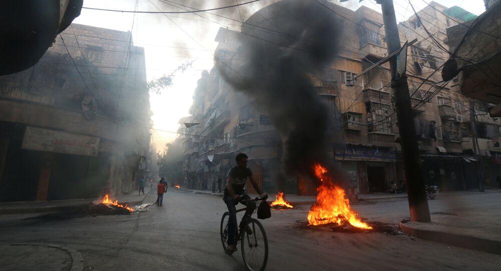 Aleppo, Síria, em 1 de agosto de 2016