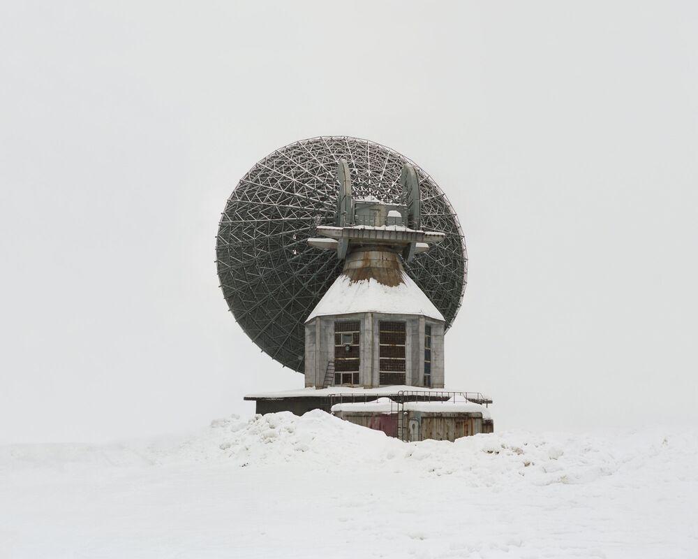 Uma antena construída para conexão interplanetária