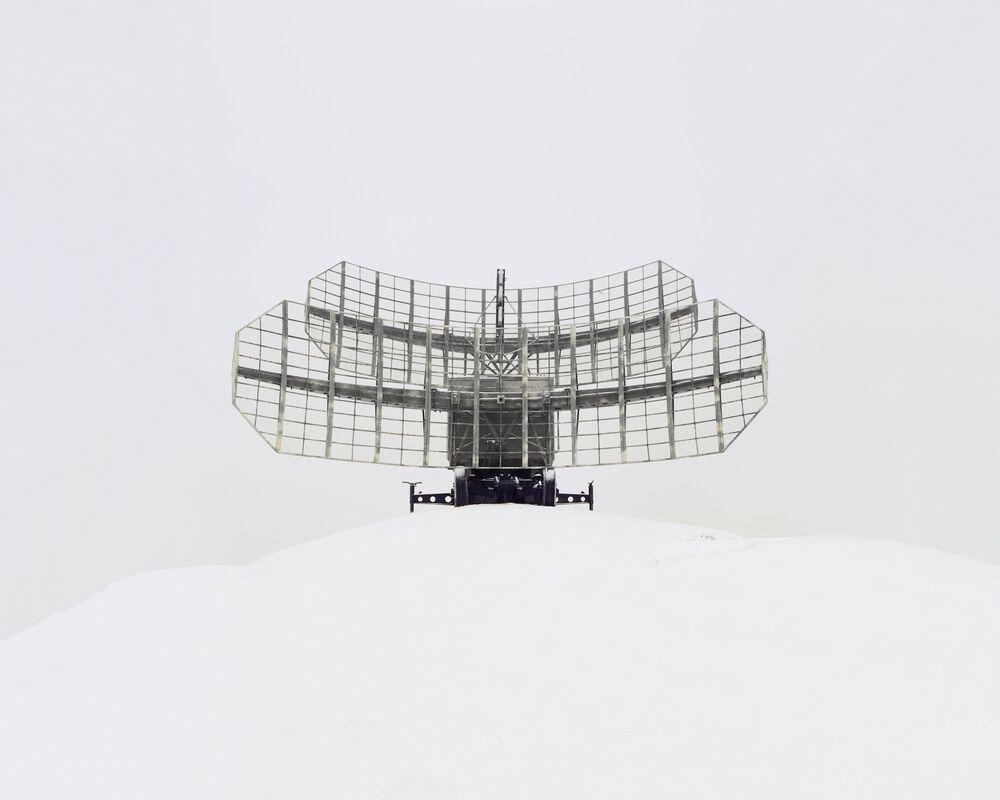Uma antena de interceptação de sinais