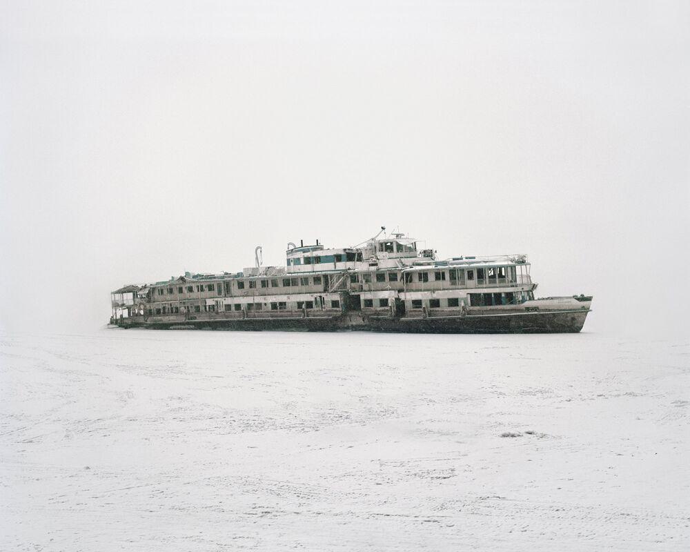 O navio Bulgaria levantado do fundo do mar