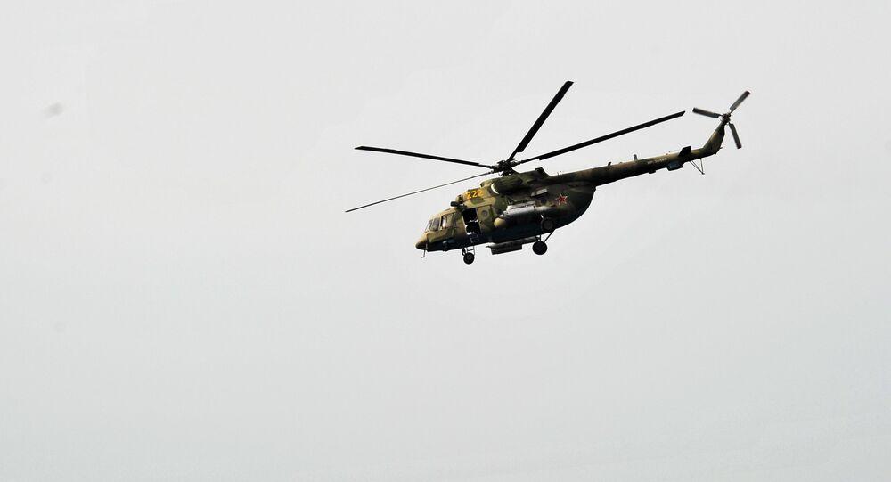 Um Mi-8 do grupo aéreo russo na Siria (archivo)