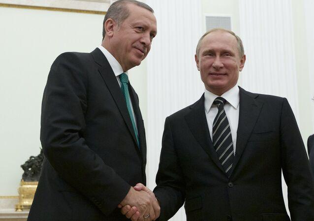 Reunião entre Vladimir Putin e Recep Tayyip Erdogan
