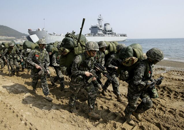 Exercícios Foal Eagle com militares dos EUA e Coreia do Sul (Foto de arquivo)