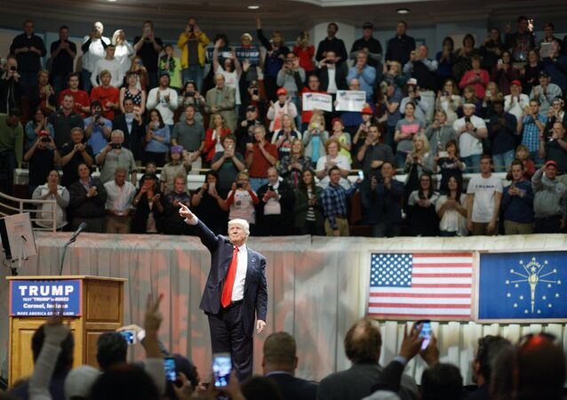 Candidato à presidência dos EUA do Partido Republicano Donald Trump