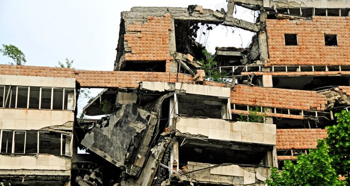 Sede do Estado-Maior da Iugoslávia destruída pela OTAN, Belgrado, Sérvia