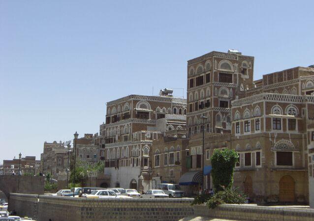 A cidade de Sana'a, Yemen