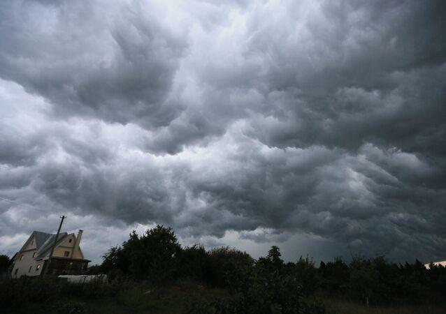 Nuvens cinzentas em Moscou (foto de arquivo)
