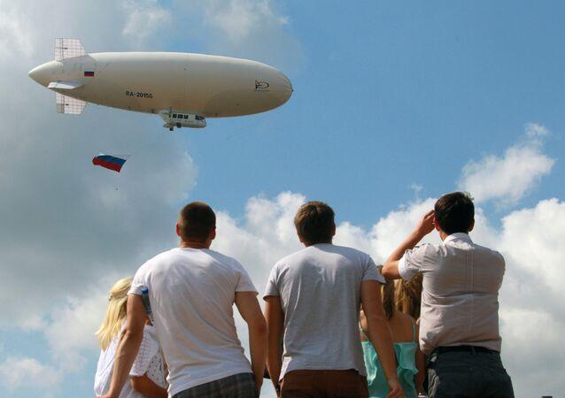 Balão dirigível da Rússia