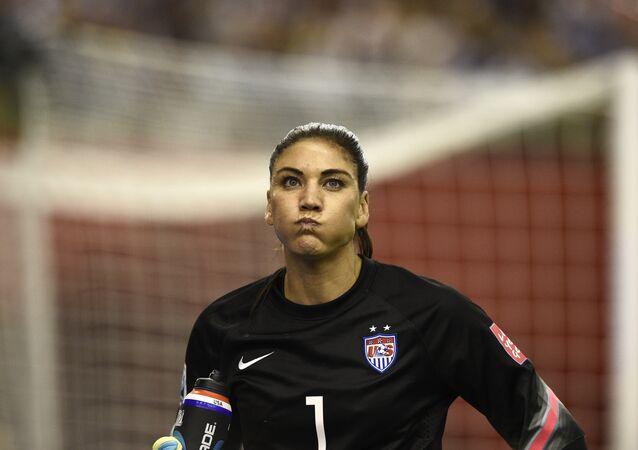 Hope Solo, goleira da seleção de futebol dos Estados Unidos