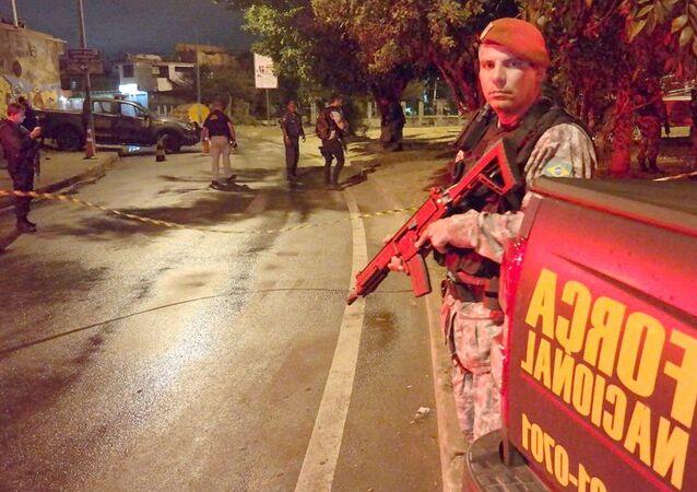 Força Nacional de Seguranca após ataque à agentes no Complexo da Maré