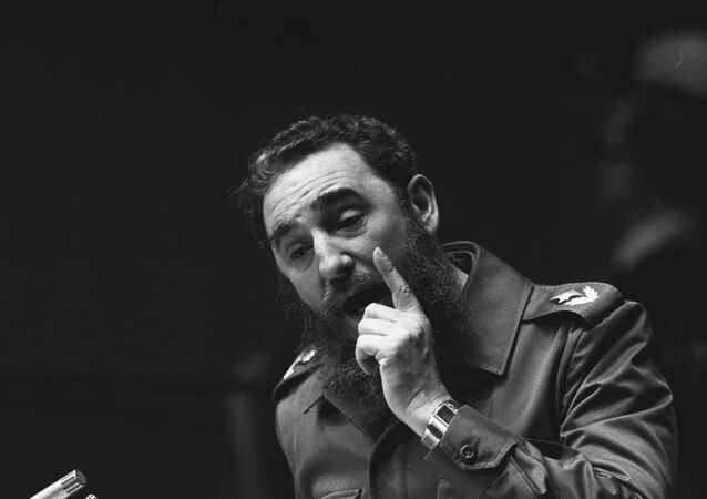 Fidel Castro se apresenta na Assembleia-Geral da ONU, Nova York, 13 de outubro de 1979
