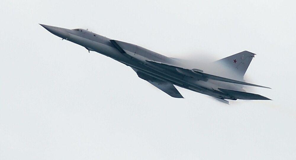 Tu-22M3 é um bombardeiro de longo alcance supersônico.