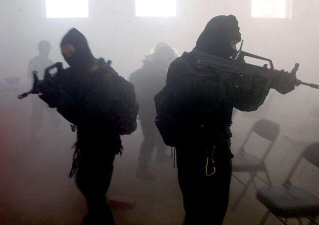 Soldados das Forças Especiais da China