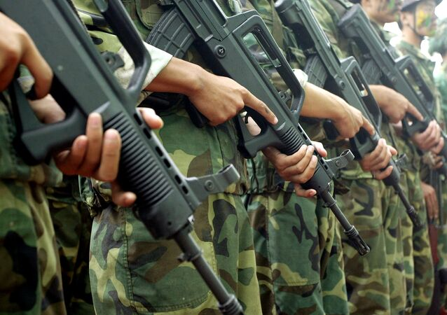 Agentes das forças especiais da China