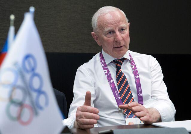 O presidente do Comitê Olímpico da Irlanda e membro do Comitê Olímpico Internacional (COI), Patrick Joseph Hickey.