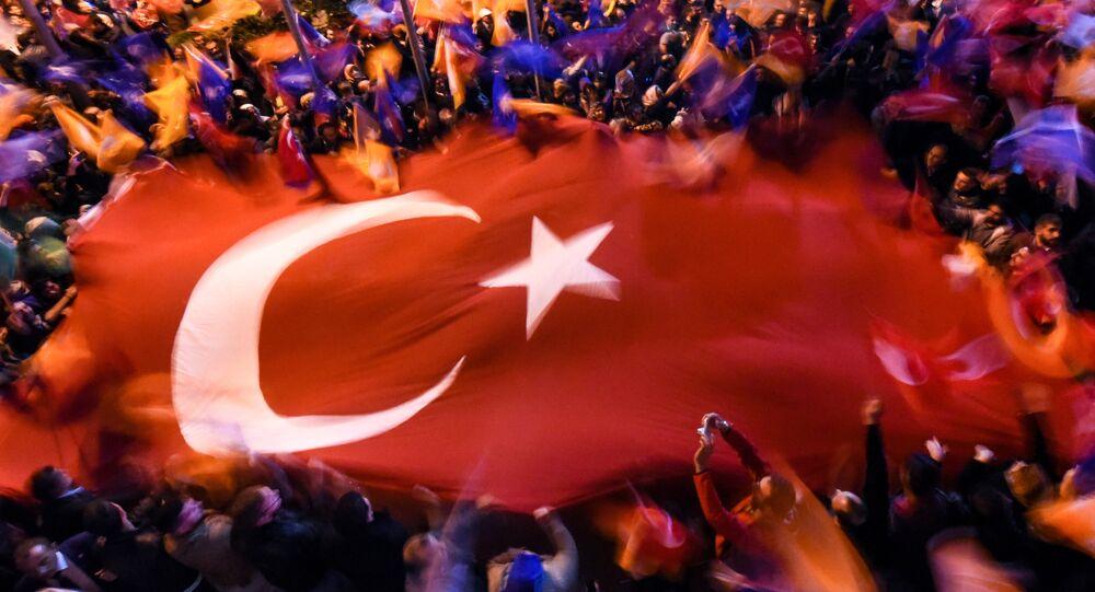 Grande bandeira da Turquia