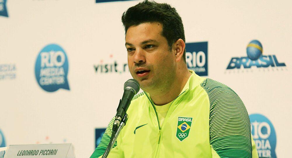 COLETIVA Ministro do Esporte Leonardo Picciani