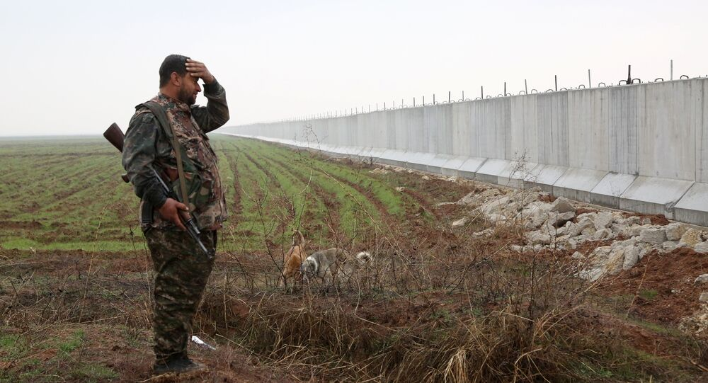 Muro na fronteira entre a Turquia e Síria
