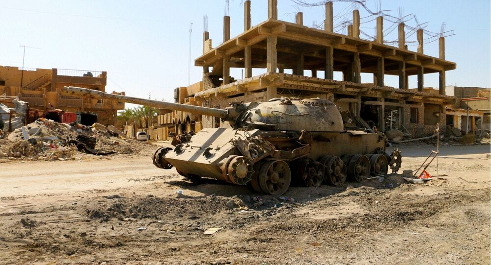 A cidade de Ramadi tornou-se em uma cidade-fantasma após controle de terroristas e combates