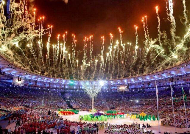 Festa de encerramento dos Jogos Rio 2016 no Maracanã